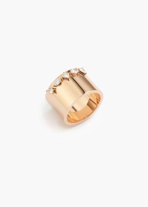 Aneska Bague Or rose diamant