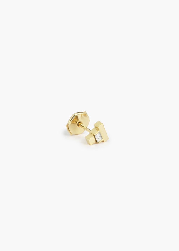 Aneska Boucles d'Oreillles Or jaune diamant