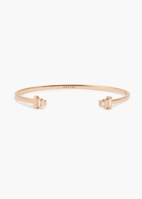 Aneska Bracelet Or rose diamant