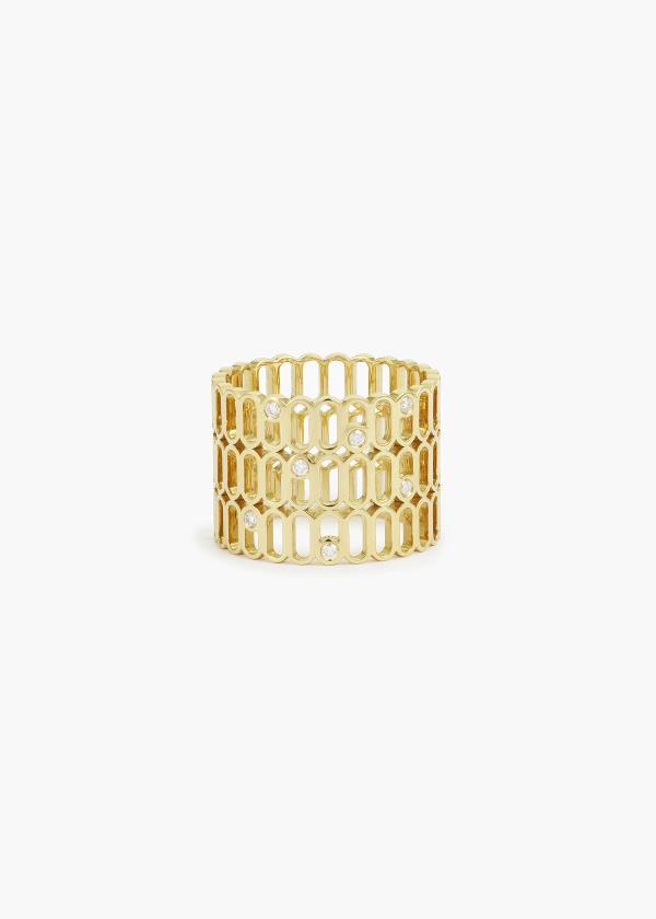 Aneska Bague Or jaune diamant